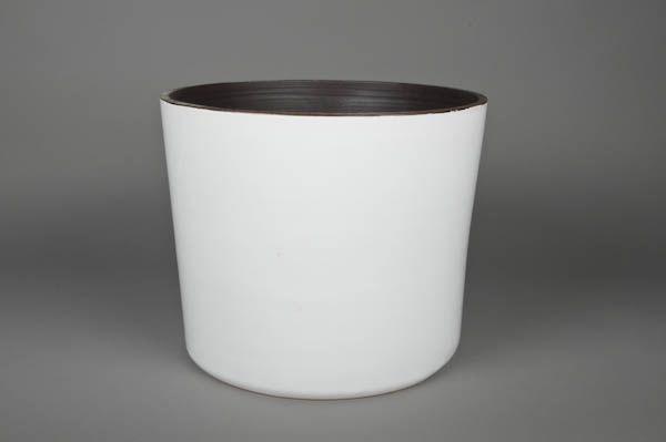 A158QS Ceramic planter white D31cm H29cm