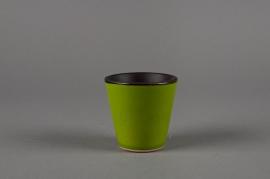 A120QS Ceramic pot green D7 H8cm