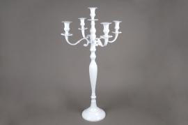 A023HH Chandelier en métal 5 branches blanc H105cm