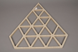X012H0 Christmas tree diamond in natural wood H50cm
