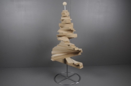 X002H0 Christmas tree spiral in natural wood H120cm