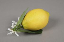 x162fd Citron jaune artificiel L13cm H6.5cm