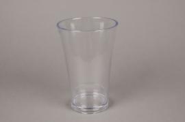 A410QX Clear plastic vase D13cm H20cm