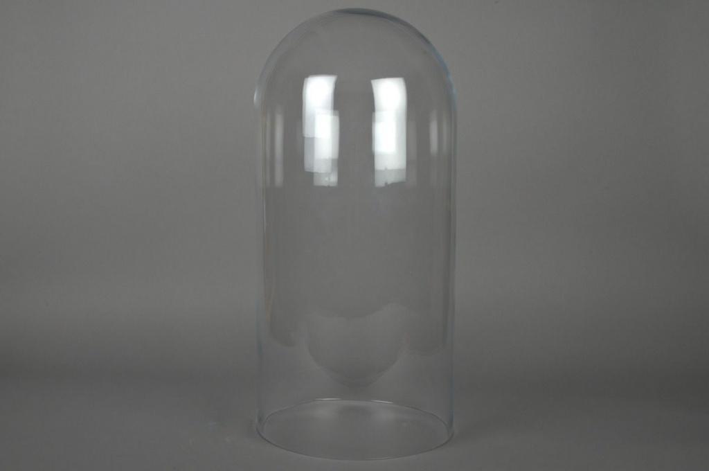 Cloche en verre D29 H60cm