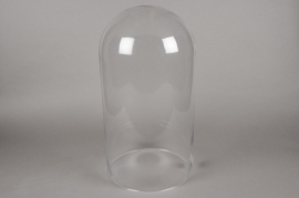 A008BX Cloche en verre D29cm H56cm