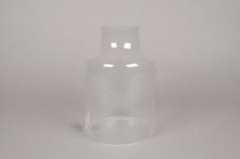 A001BX Cloche ouverte en verre D18cm H22cm