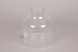A003BX Cloche ouverte en verre D26cm H17cm