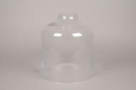 A005BX Cloche ouverte en verre D27.5cm H33cm