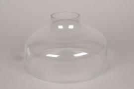 A004BX Cloche ouverte en verre D28cm H17.5cm