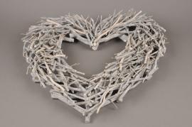 X119RX Coeur en bois blanchi D50cm