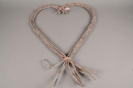 SV01AG Coeur en bois naturel L50cm H70cm