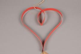 SV00AK Coeur en métal rouge D28cm