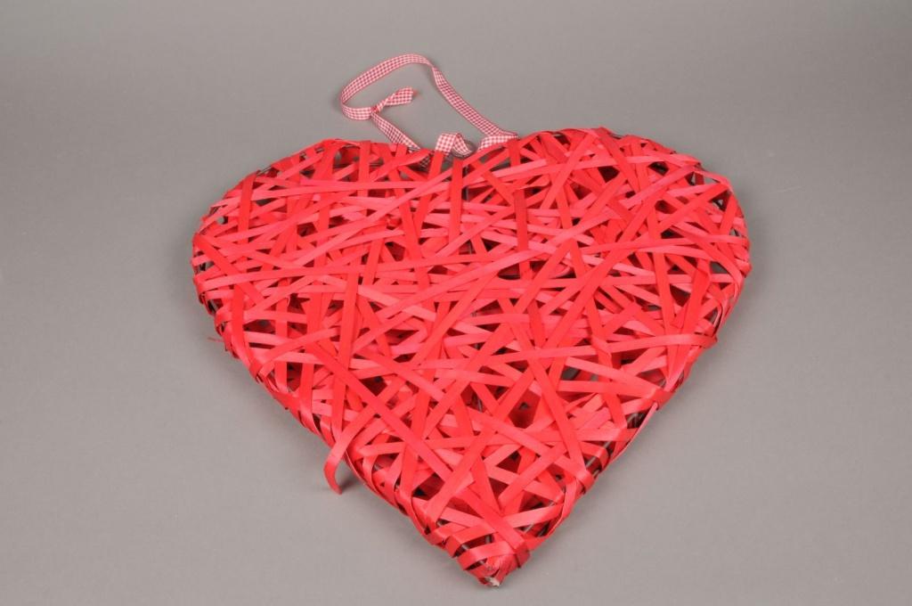 SV15RX Coeur en osier rouge D50cm