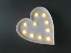 A369DQ Coeur lumineux LED 25cm