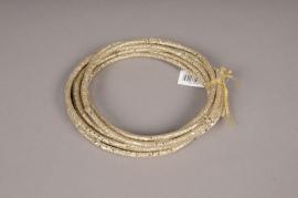 xx04di Cordon décoratif pailletté platine D5mm L450cm