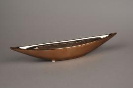 A080YX Coupe bateau en céramique cuivre  5x30cm