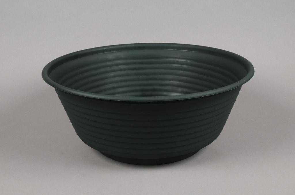 A010H7 Coupe en plastique vert foncé D41 H17cm