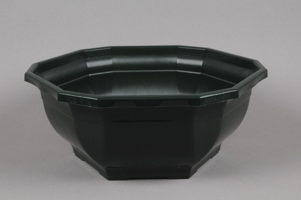 A002H7 Coupe en plastique vert foncé D38 H15cm