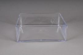 Coupe en plexi cristal carré 20x20 H6,5cm