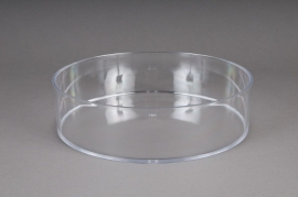 Coupe en plexi cristal rond D15 H6,5cm
