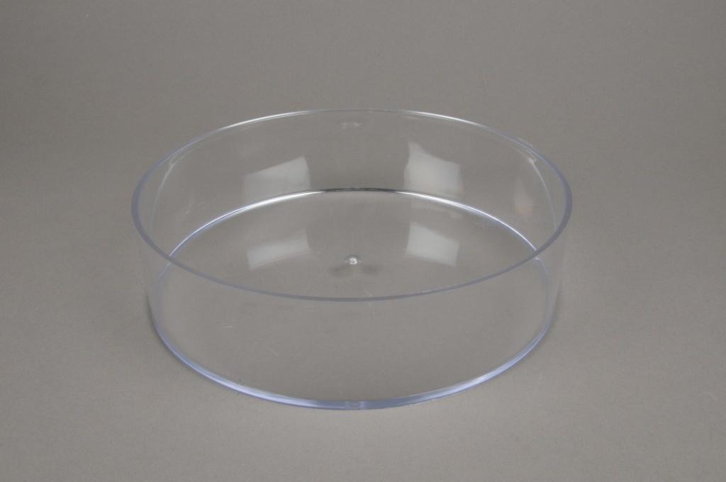 A004X9 Coupe en plexi cristal rond D25cm H6,5cm