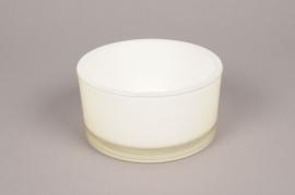 A904IH Coupe en verre blanc crème D15 H8cm