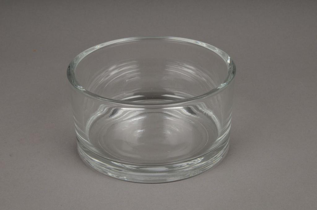 A040I0 Coupe en verre cylindre D15cm H8cm