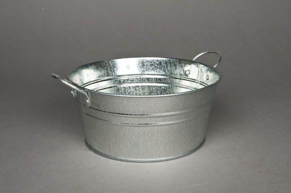 Coupe en zinc brillant naturel D20 H9 cm