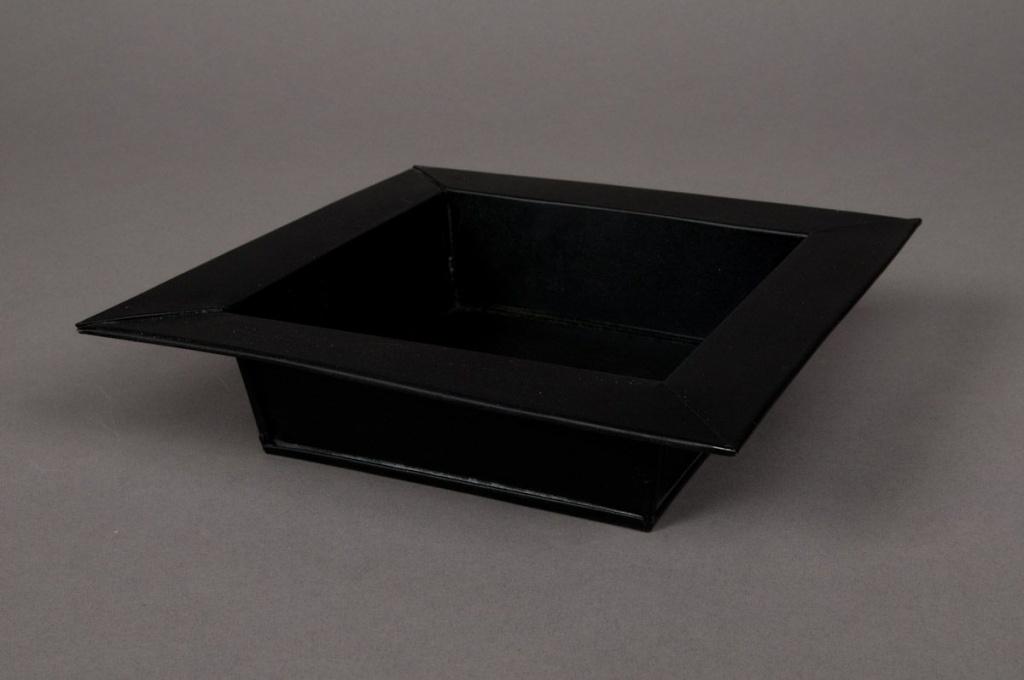 Coupe en zinc noir 30x30 H5cm