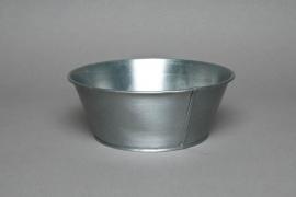 Zinc titanium bowl D20 H8cm