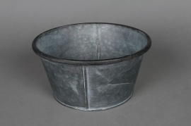 Old looking zinc cup with edge D22 H11cm