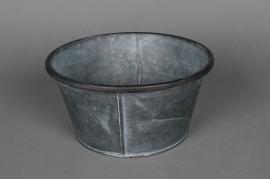 Coupe zinc vieilli avec rebord D22cm H11 cm