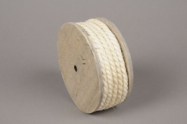 x164wg Cream roll jute yarn D8mmx7m