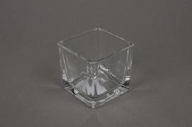 A021I0 Cube en verre 6x6 H6cm