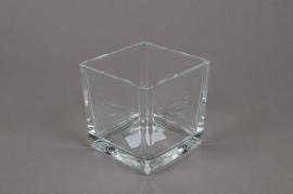 A022I0 Cube en verre 8x8 H8cm