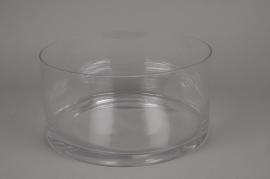 A086PQ Cylindric glass bowl diameter 30cm height 15cm