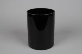 A092PS Cylindric glass vase black diameter 15cm height 20cm