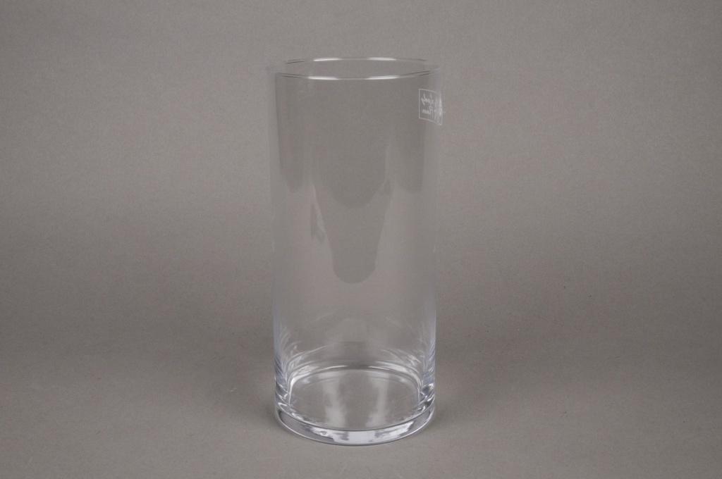 A013I0 Cylindric glass vase D11.5cm H25cm