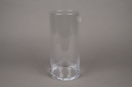 A013I0 Cylindric glass vase D11.5cm H25cm