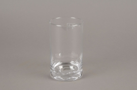 A014I0 Cylindric glass vase D8.5cm H15cm
