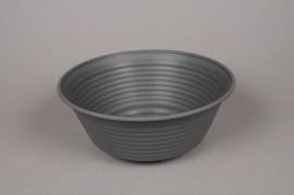 A103H7 Dark grey plastic bowl D30.5cm H12.5cm