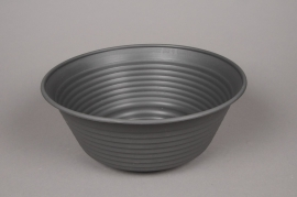 A104H7 Dark grey plastic bowl D36cm H14.5cm