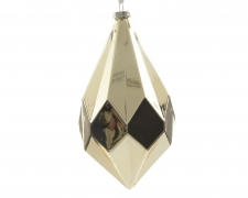 X822KI Hanging glass diamond gold height 31cm