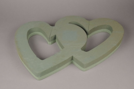 A155QV Double open heart 58 x 38cm