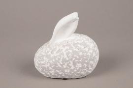 E001UO Lapin gris H15cm