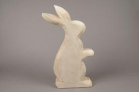 E009ZV Wooden rabbit H58cm