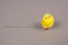E021KI Box of 36 yellow chicks on pick H5cm