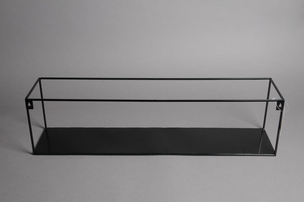 Etagère Murale En Métal Noir 70 X 15cm H18cm