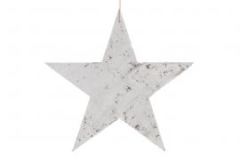 X030U7 Etoile en bois blanchi D25cm
