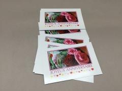 "F010MQ Pack of 15 postcards ""Joyeux Anniversaire"""